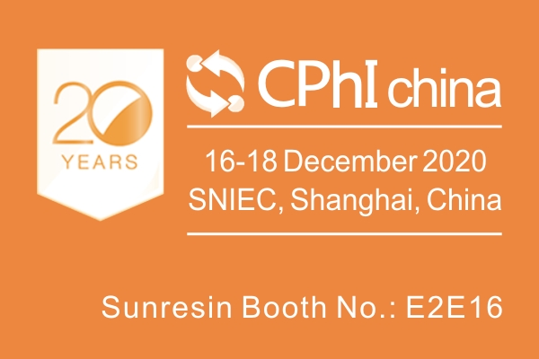 Sunresin Invites You to Visit the 20th World Shanghai CPhI Exhibition
